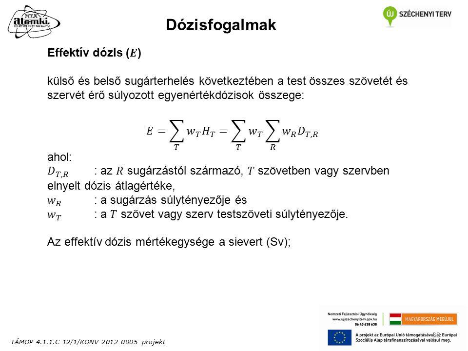 TÁMOP-4.1.1.C-12/1/KONV-2012-0005 projekt 38 Dózisfogalmak