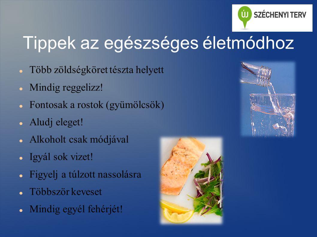 Tippek az egészséges életmódhoz Több zöldségköret tészta helyett Mindig reggelizz.