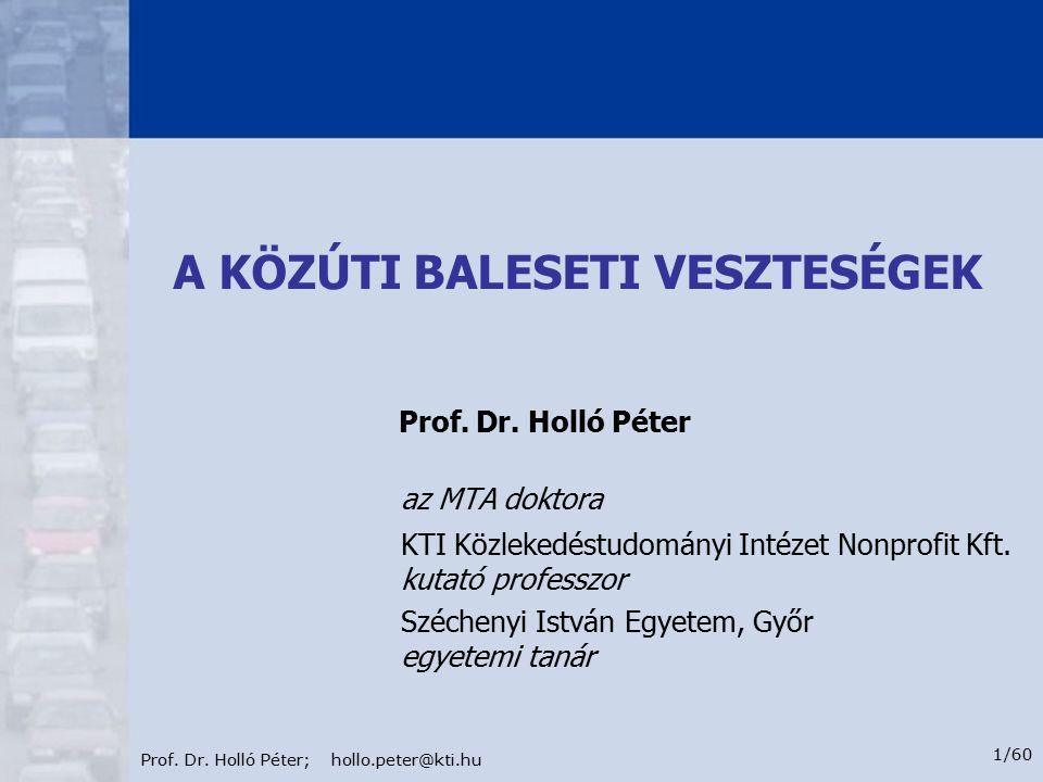 Prof.Dr. Holló Péter; hollo.peter@kti.hu 12/60 1.