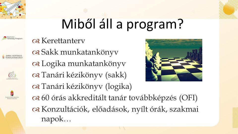 Miből áll a program.