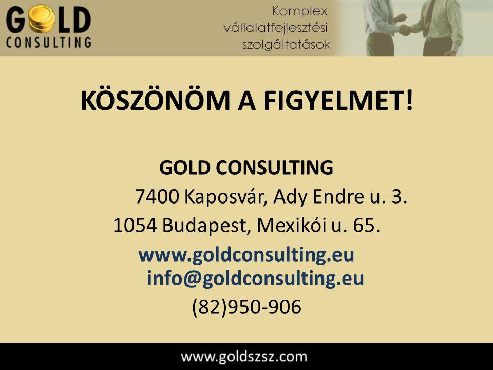 KÖSZÖNÖM A FIGYELMET. GOLD CONSULTING 7400 Kaposvár, Ady Endre u.