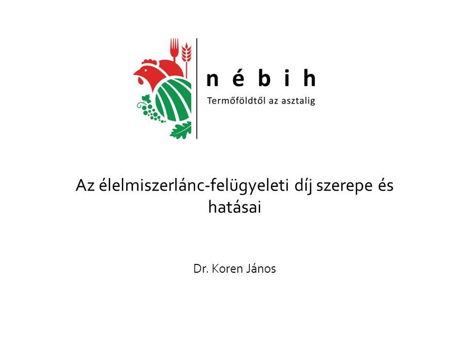Az élelmiszerlánc-felügyeleti díj szerepe és hatásai Dr. Koren János