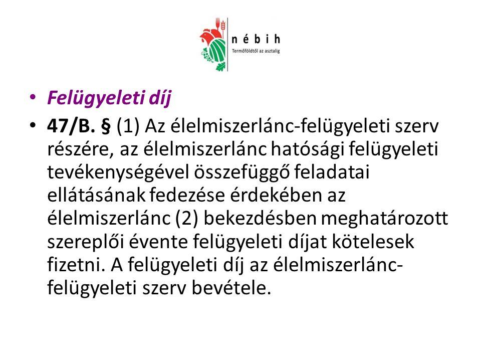 Felügyeleti díj 47/B.