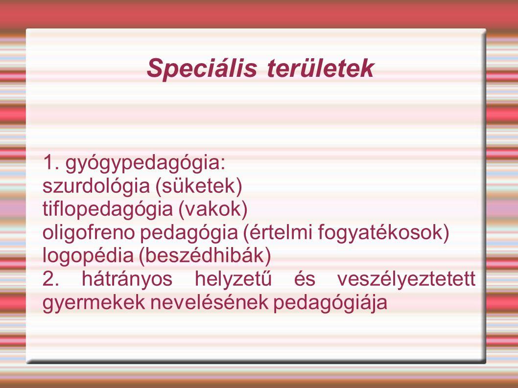 Speciális területek 1.