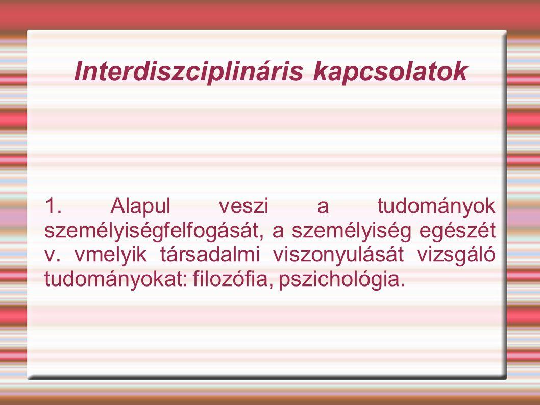 Interdiszciplináris kapcsolatok 1.