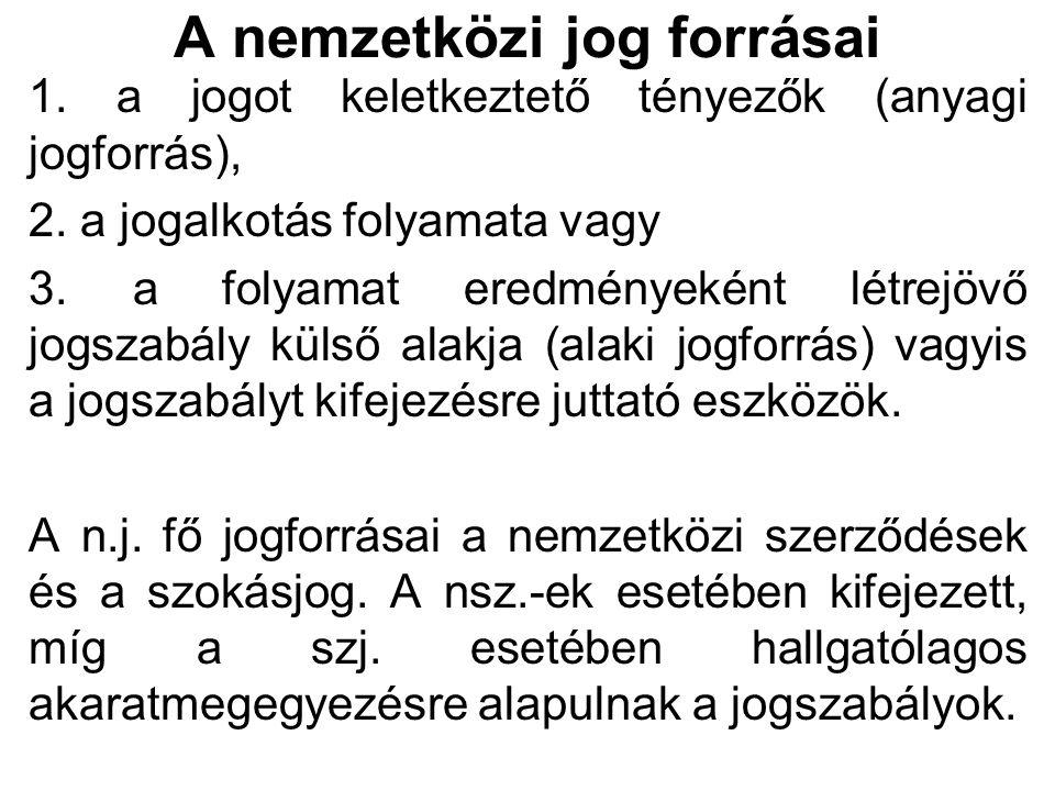 A nemzetközi szerződés előnye mint jogforrás 1.Tisztán kifejezésre juttatja a felek akaratát.