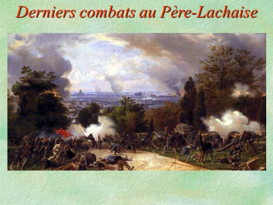 Derniers combats au Père-Lachaise
