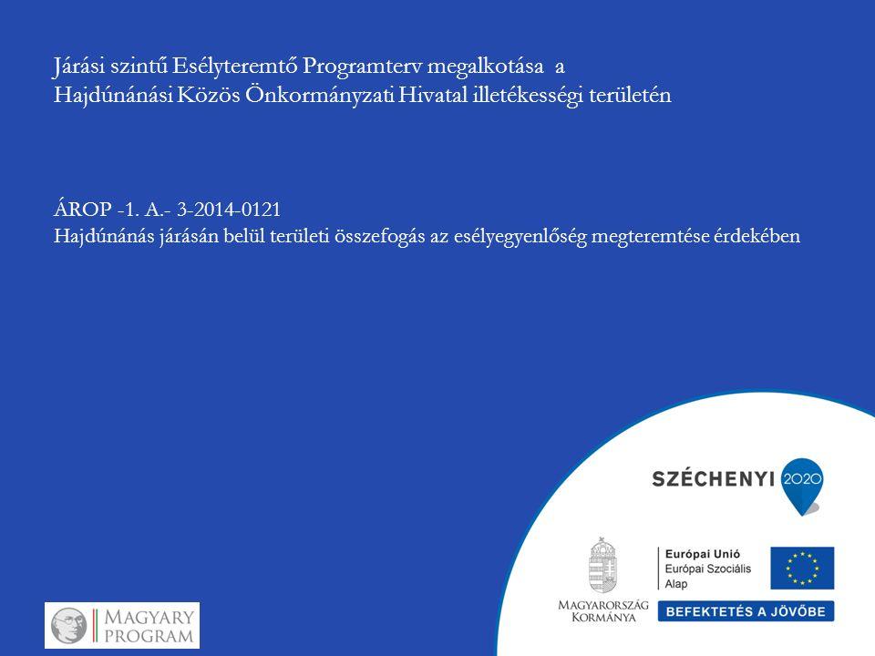 Járási szintű Esélyteremtő Programterv megalkotása a Hajdúnánási Közös Önkormányzati Hivatal illetékességi területén ÁROP -1. A.- 3-2014-0121 Hajdúnán