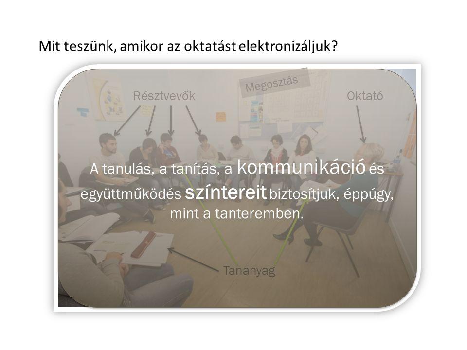 Mit teszünk, amikor az oktatást elektronizáljuk.