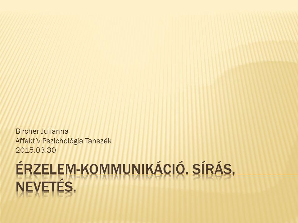 Bircher Julianna Affektív Pszichológia Tanszék 2015.03.30