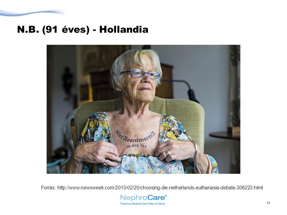 N.B. (91 éves) - Hollandia 14 Forrás: http://www.newsweek.com/2015/02/20/choosing-die-netherlands-euthanasia-debate-306223.html