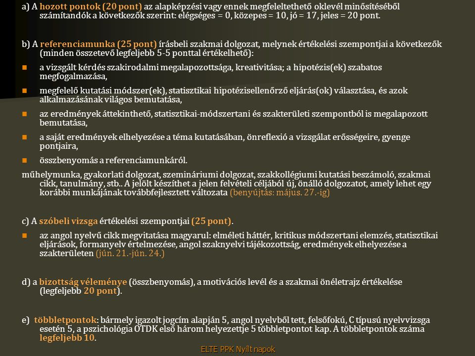 Klinikai- és egészségpszichológia szakirány Szakirányfelelős: Dr. Oláh Attila egyetemi tanár