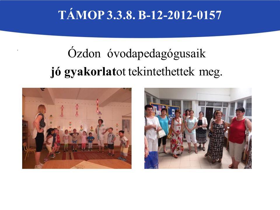 . TÁMOP 3.3.8. B-12-2012-0157 Ózdon óvodapedagógusaik jó gyakorlatot tekintethettek meg.