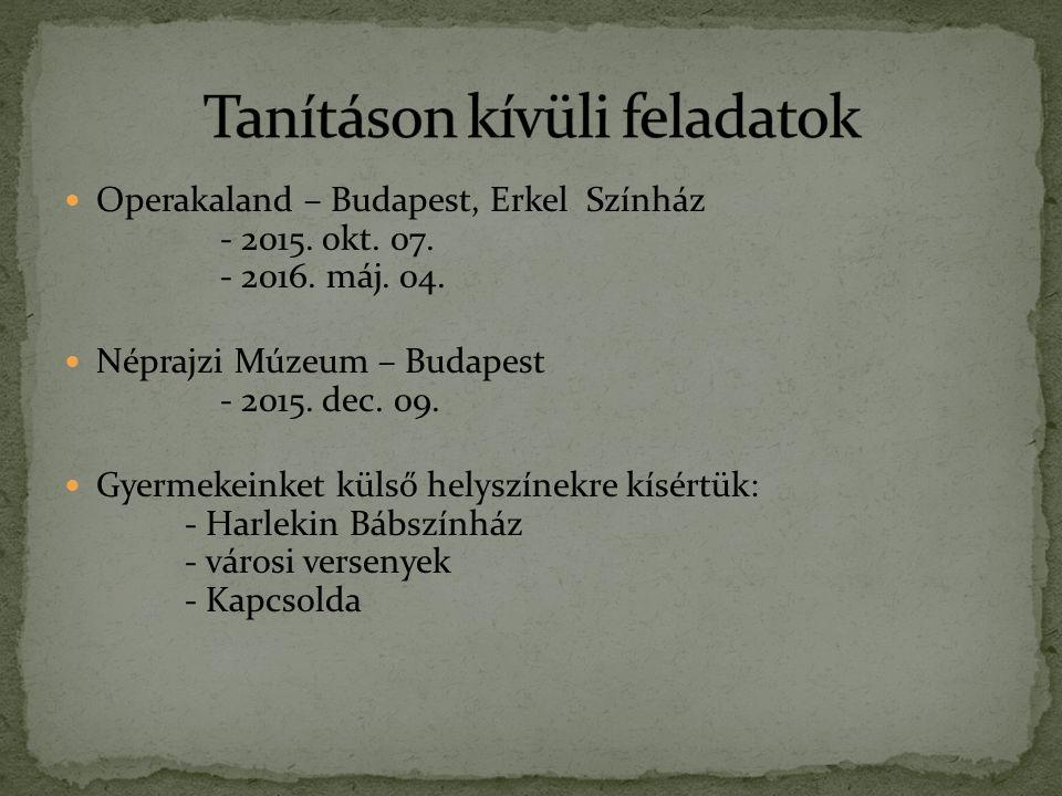 Operakaland – Budapest, Erkel Színház - 2015. okt.