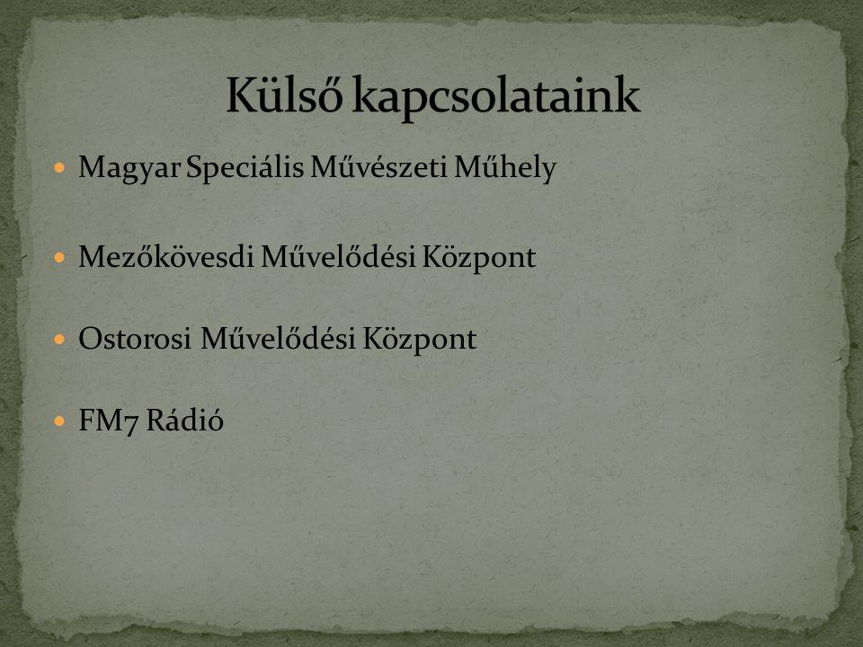 Magyar Speciális Művészeti Műhely Mezőkövesdi Művelődési Központ Ostorosi Művelődési Központ FM7 Rádió