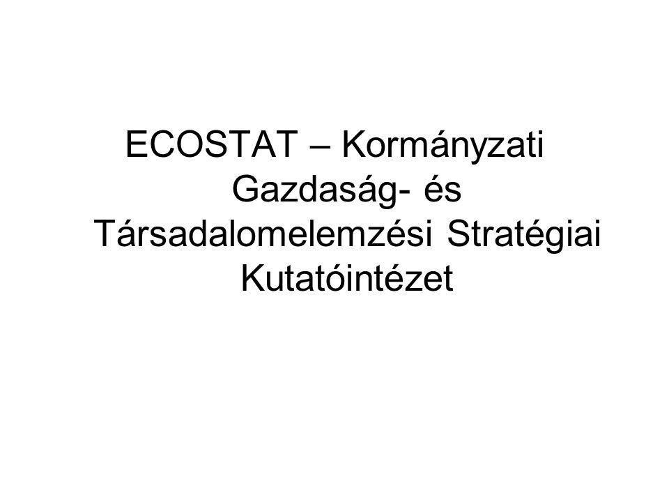 ECOSTAT – Kormányzati Gazdaság- és Társadalomelemzési Stratégiai Kutatóintézet