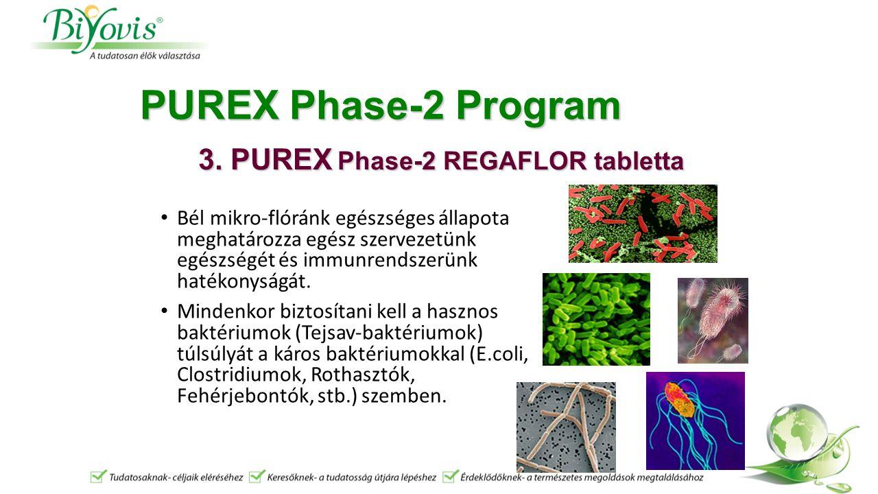 PUREX Phase-2 Program Bél mikro-flóránk egészséges állapota meghatározza egész szervezetünk egészségét és immunrendszerünk hatékonyságát.
