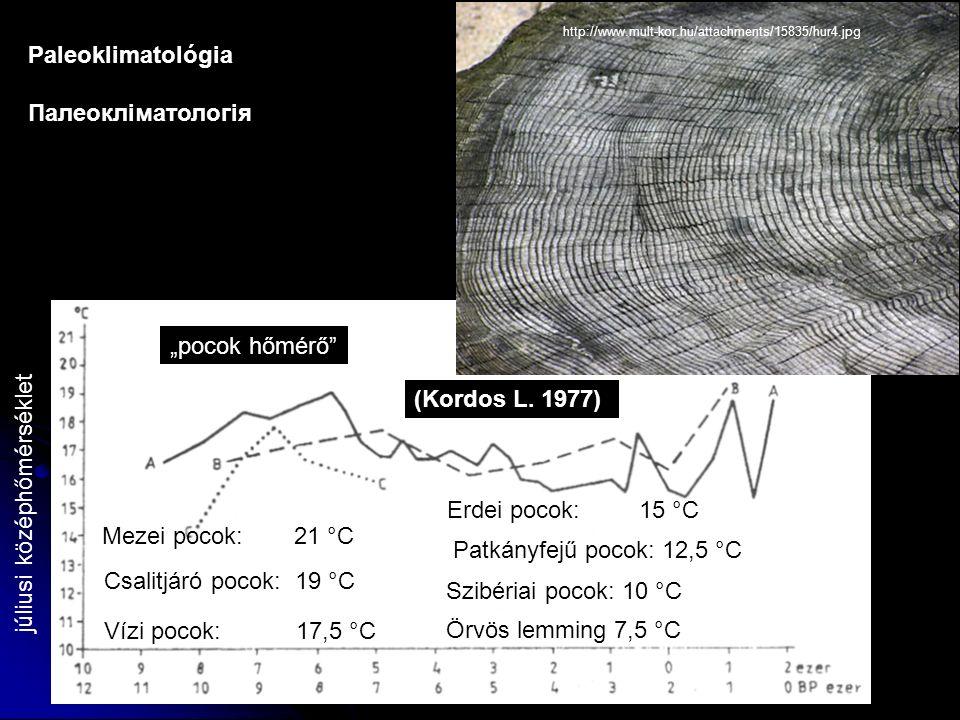 """júliusi középhőmérséklet """"pocok hőmérő (Kordos L."""
