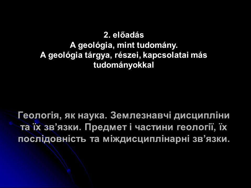Geológia → gör: gé, gea = Föld, logosz = tudomány → FÖLDTAN.