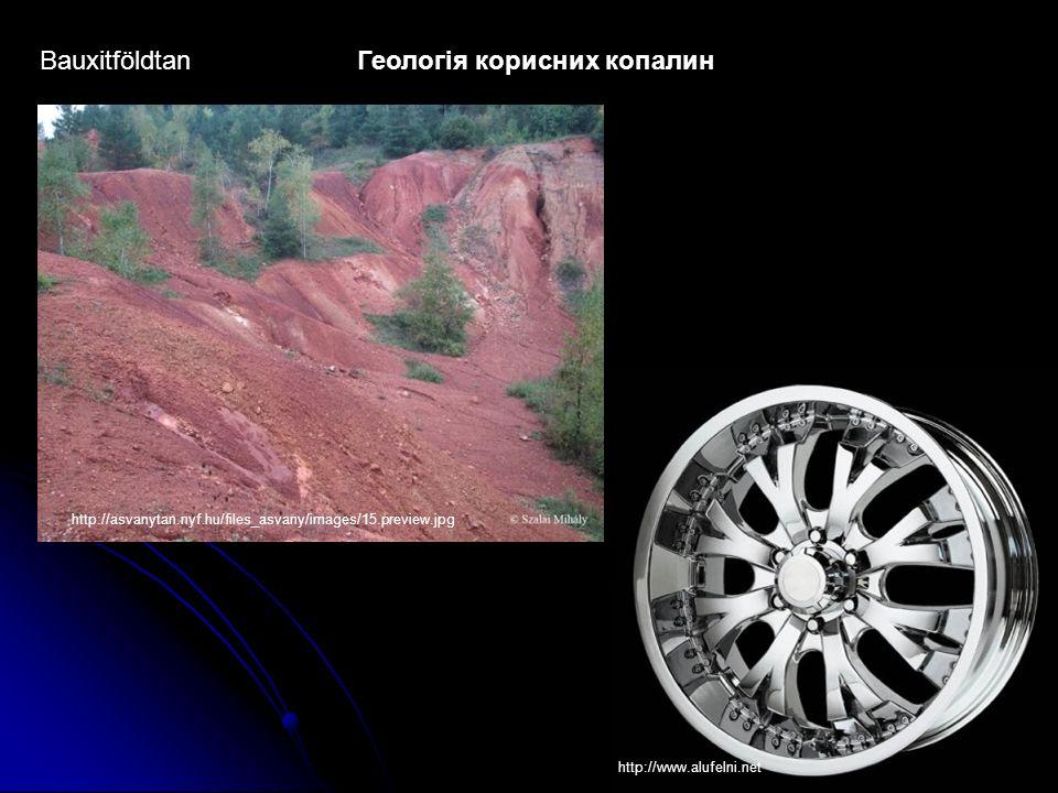 BauxitföldtanГеологія корисних копалин http://asvanytan.nyf.hu/files_asvany/images/15.preview.jpg http://www.alufelni.net