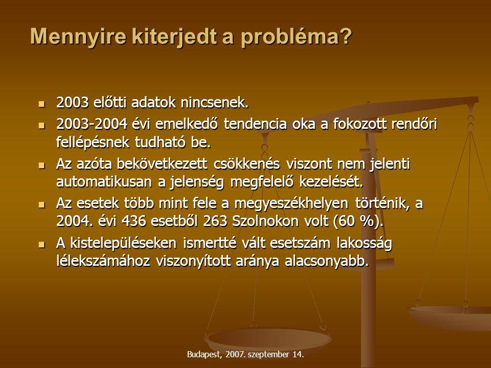 Budapest, 2007. szeptember 14. Mennyire kiterjedt a probléma.