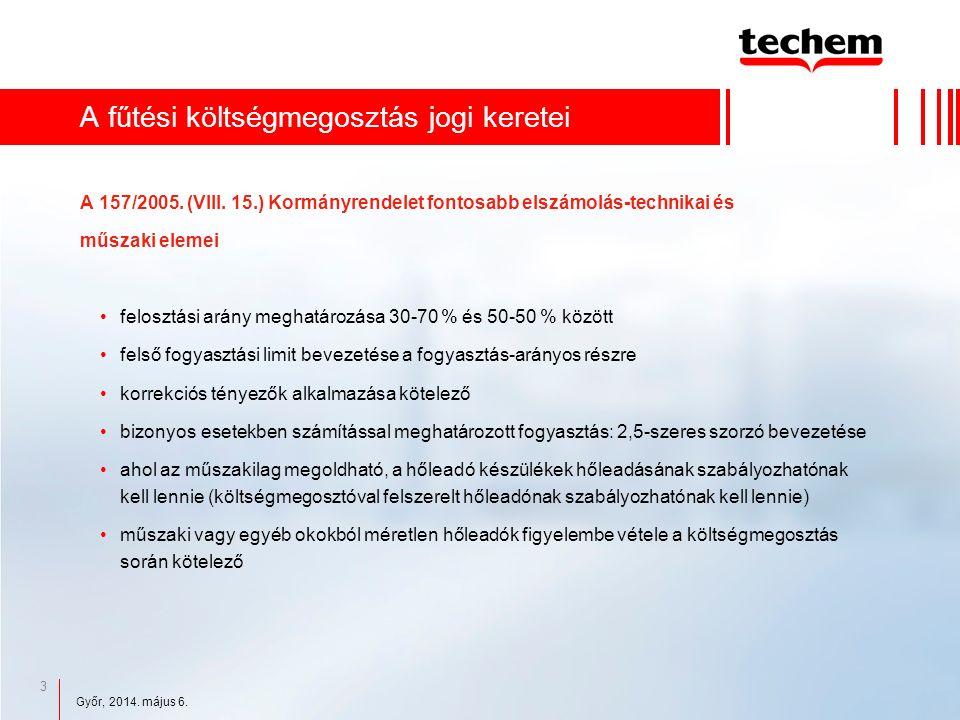 3 A fűtési költségmegosztás jogi keretei A 157/2005.