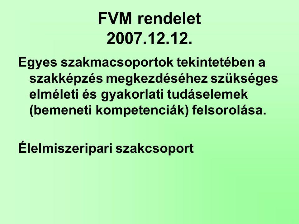 FVM rendelet 2007.12.12.