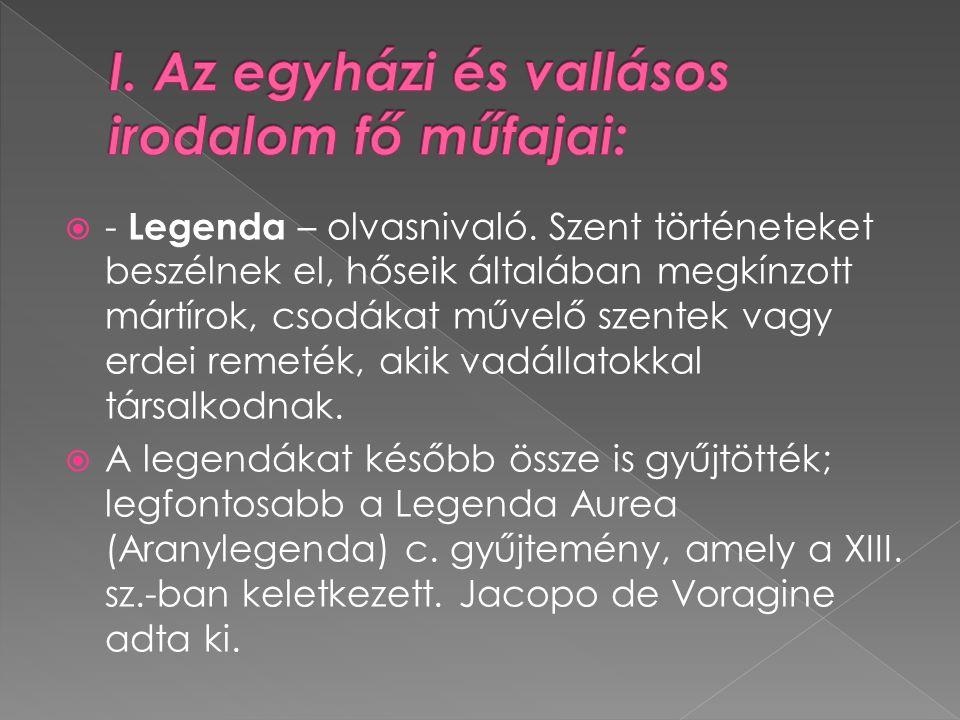  - Legenda – olvasnivaló.