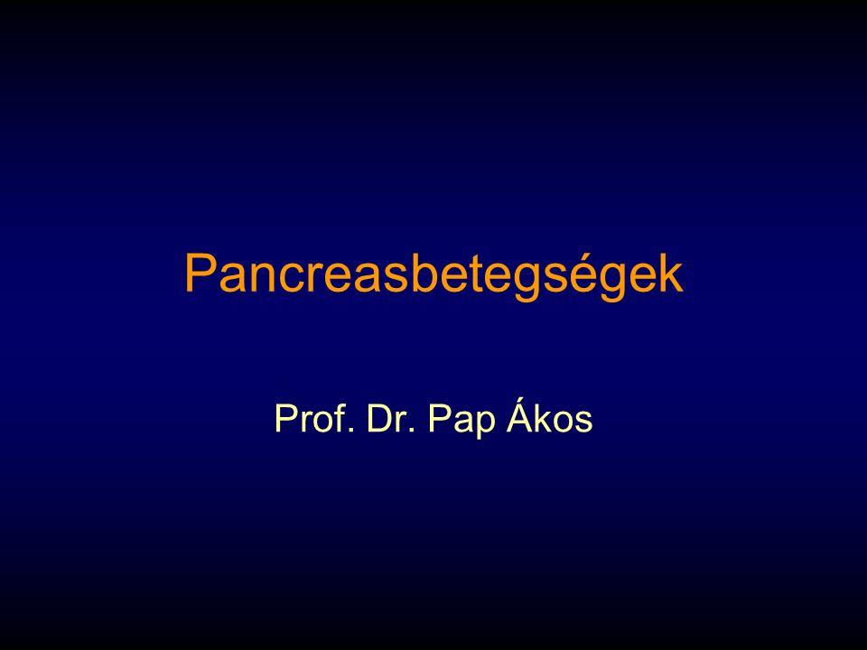 Pancreasbetegségek Prof. Dr. Pap Ákos