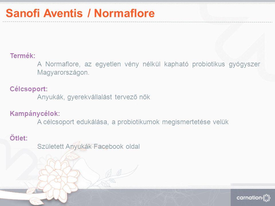 Sanofi Aventis / Normaflore Termék: A Normaflore, az egyetlen vény nélkül kapható probiotikus gyógyszer Magyarországon.