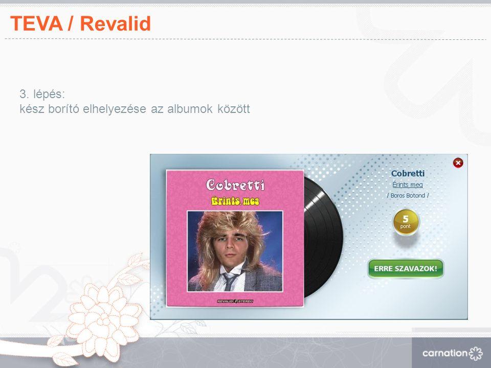 TEVA / Revalid 3. lépés: kész borító elhelyezése az albumok között