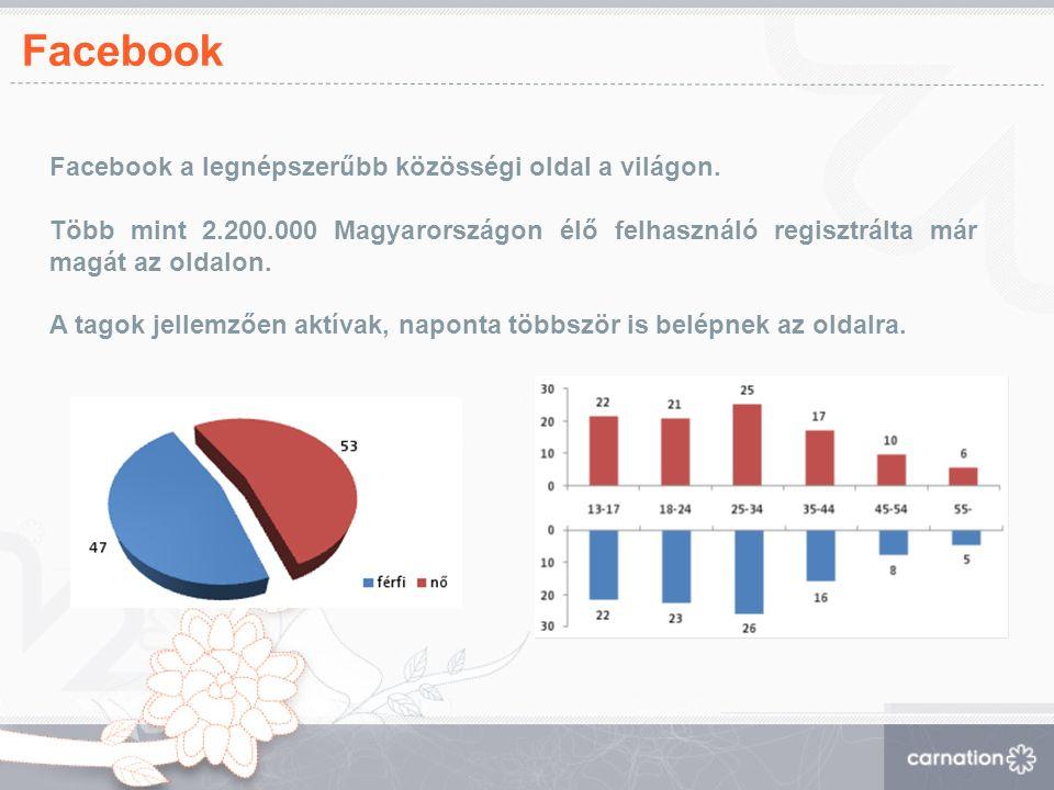 Facebook Facebook a legnépszerűbb közösségi oldal a világon.
