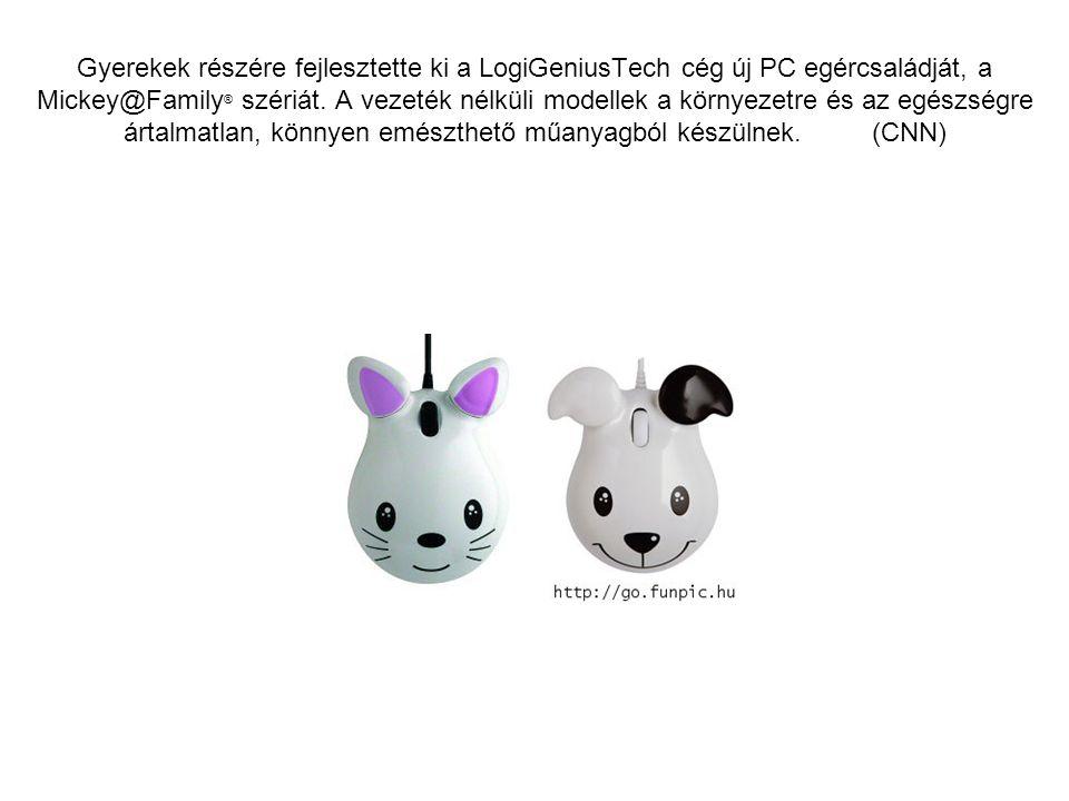 Gyerekek részére fejlesztette ki a LogiGeniusTech cég új PC egércsaládját, a Mickey@Family ® szériát.