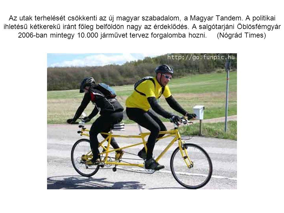 Az utak terhelését csökkenti az új magyar szabadalom, a Magyar Tandem.