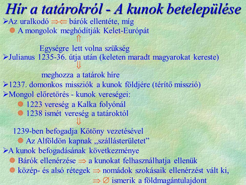 A tatárjárás (IV. Béla menekülése)