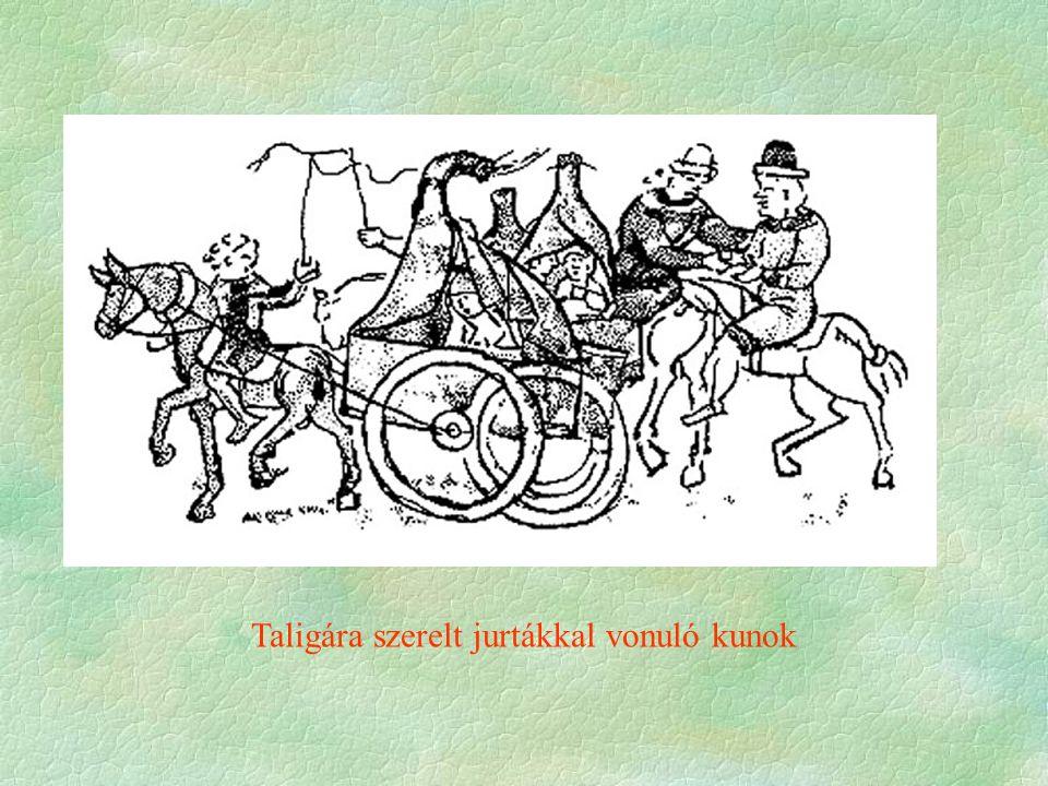 """Hír a tatárokról – A kunok betelepülése  Tettének valós oka:  a bárók katonai erejére  igen támaszkodhat  katonai erejét kívánja növelni   számíthat a pápára, az NRCs-ra, az Babenbergekre és Halicsra sem  Az ország a tatár támadás """"előestéjén  Nem mérték kellően Julianus hírét  1240 - Kijev eleste  A """"véres kard körbehordozása  fegyverbe szólítja a bárókat, servienseket, várjobbágyokat  Most üt vissza birtokvisszaszerző, tekintélyelvű politikáját"""