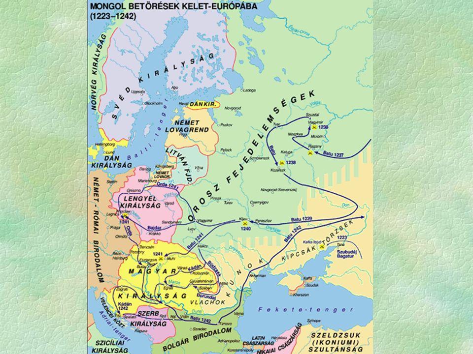 """ Tatárjárás  a pusztulás  emberben és anyagi javakban hatalmas  egy német krónika írja """"Magyarország 350 éves fennállás után elpusztult  A pusztulás  Eltérő kutatási eredmények  20-50%-os veszteség  a nem egyformán érinti az országot  a legnagyobb veszteség a magyarságot érte  A veszteség pótlása betelítések, betelepedések  1246."""