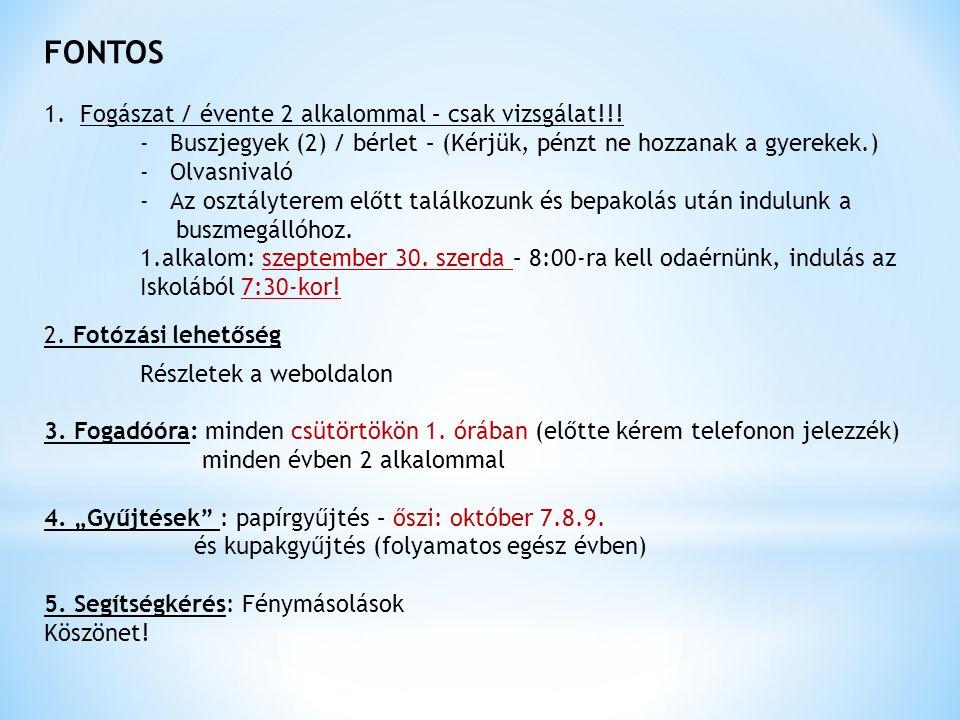 Első félévben már nem találkozunk- -Programok -Őszi szünet: utolsó tanítási nap: október 22.