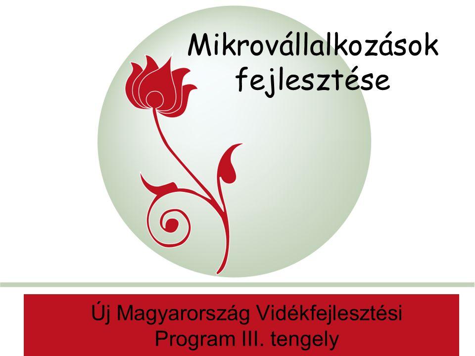 """""""New Hungary Rural Development Programme 2007-2013 AaAa Mikrovállalkozások fejlesztése Új Magyarország Vidékfejlesztési Program III."""