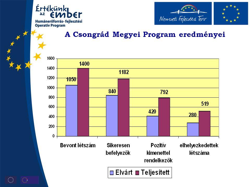A Csongrád Megyei Program eredményei