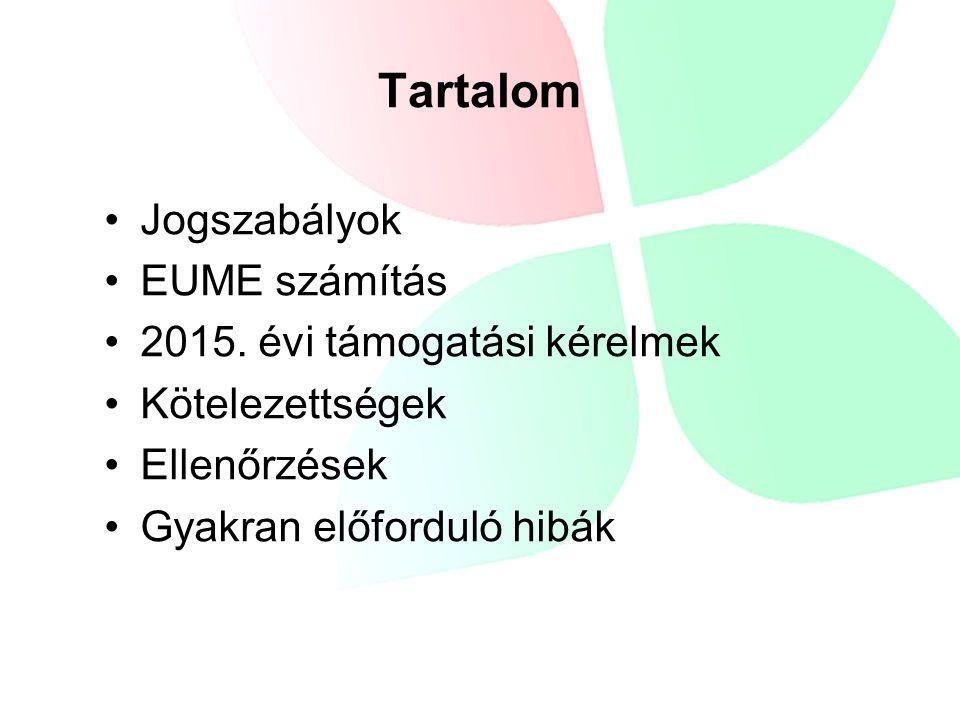 Jogszabályok EUME számítás 2015.