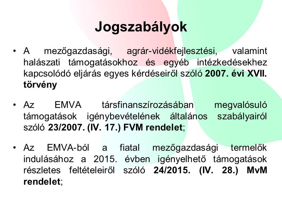 A mezőgazdasági, agrár-vidékfejlesztési, valamint halászati támogatásokhoz és egyéb intézkedésekhez kapcsolódó eljárás egyes kérdéseiről szóló 2007.