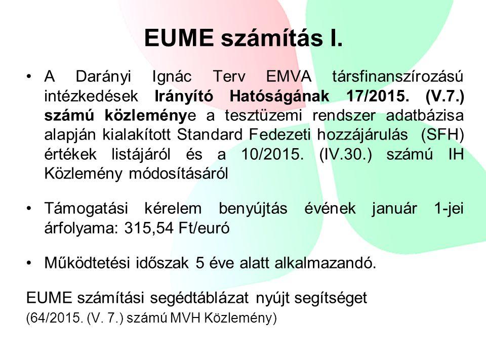 A Darányi Ignác Terv EMVA társfinanszírozású intézkedések Irányító Hatóságának 17/2015.
