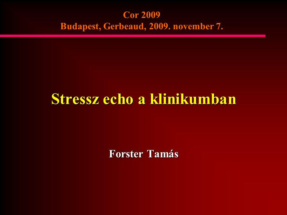 Stressz echo a klinikumban Forster Tamás Cor 2009 Budapest, Gerbeaud, 2009. november 7.