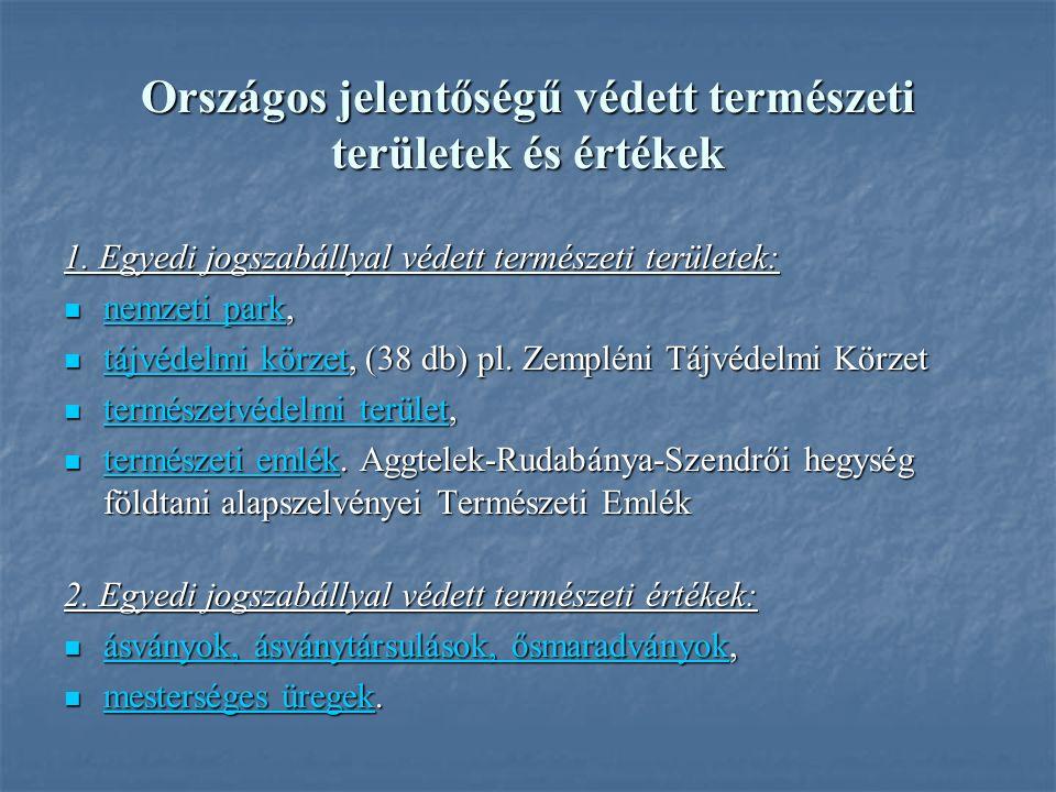 Országos jelentőségű védett természeti területek és értékek 1.