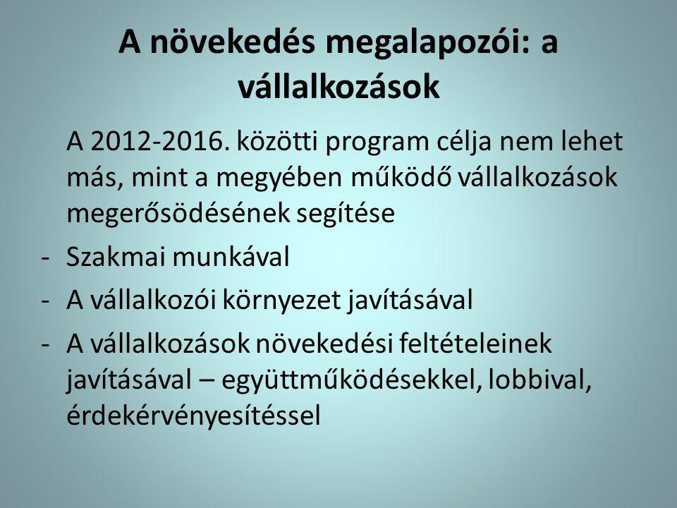 Tervezési alapok: jelenlegi helyzet, várható folyamatok Magyarország és Borsod-Abaúj-Zemplén megye gazdasági helyzete, kilátásai Optimális esetben lassú növekedés Potenciális lehetőségek bővülése A magyar kamarai rendszer alakulása, a BOKIK lehetőségei Közjogi feladatrendszer további erősödése, stabil kapcsolatrendszer és bizalom, kiegyensúlyozott működés