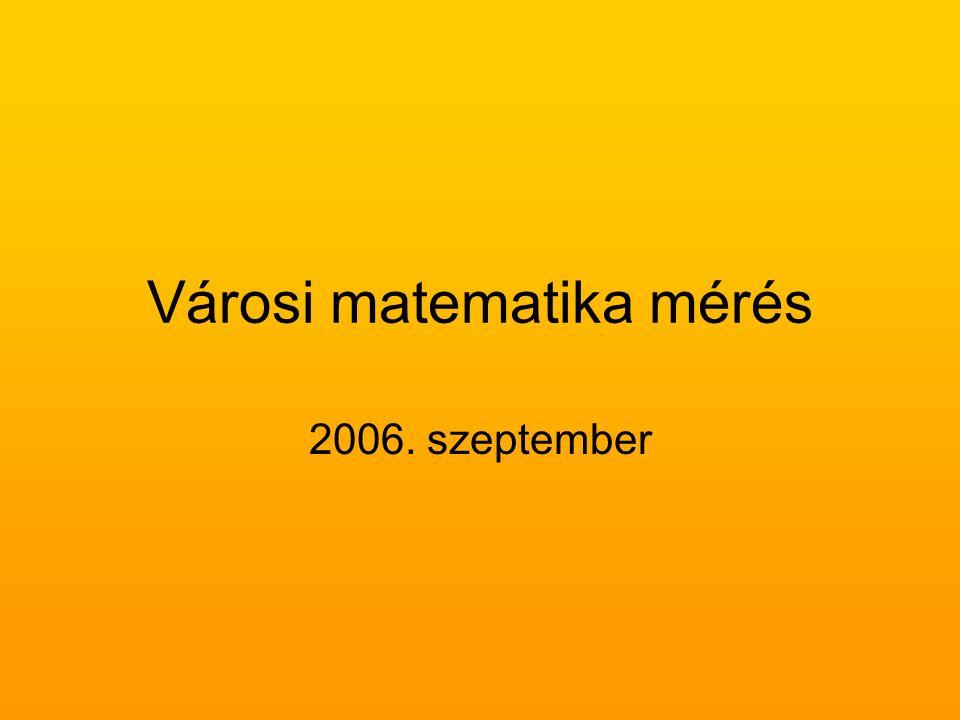 Városi matematika mérés – 9. évfolyam – Kecskemét – 2006 Teszteredmények iskolatípusok szerint