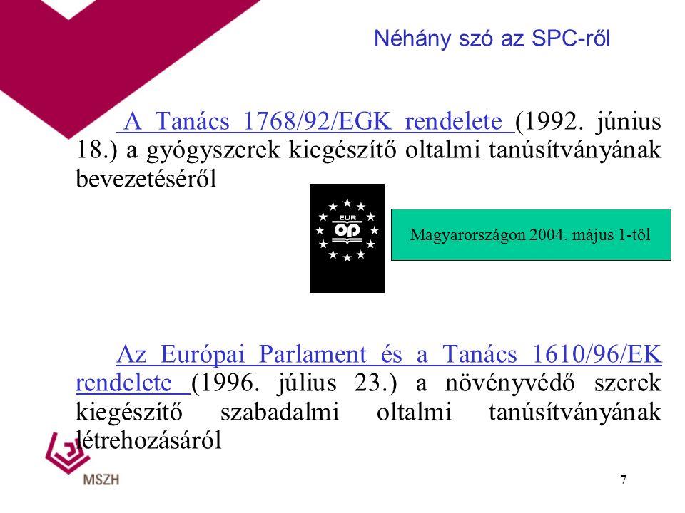 A Tanács 1768/92/EGK rendelete (1992.