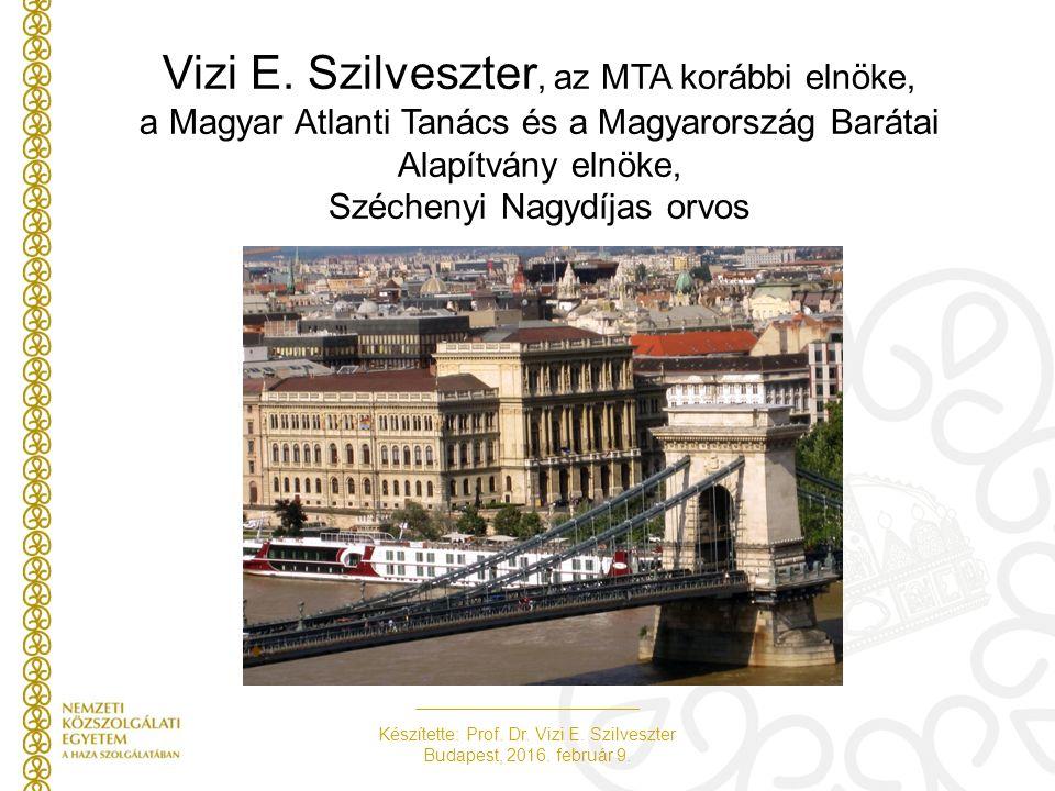 Készítette: Prof. Dr. Vizi E. Szilveszter Budapest, 2016. február 9. Vizi E. Szilveszter, az MTA korábbi elnöke, a Magyar Atlanti Tanács és a Magyaror