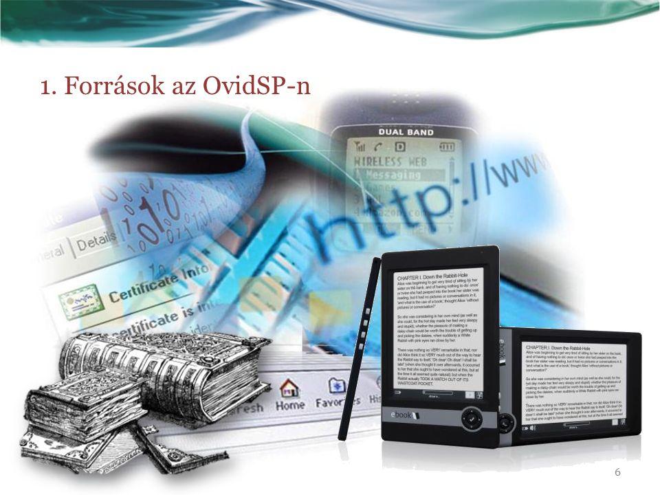 1. Források az OvidSP-n 6